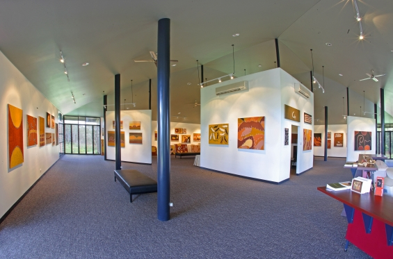 Inside the Warmun Art fine art gallery, Warmun. © Muranjini Photography