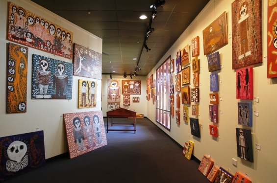 Interior of  Mowanjum Art & Culture Centre Retail Gallery. © AGWA 2014