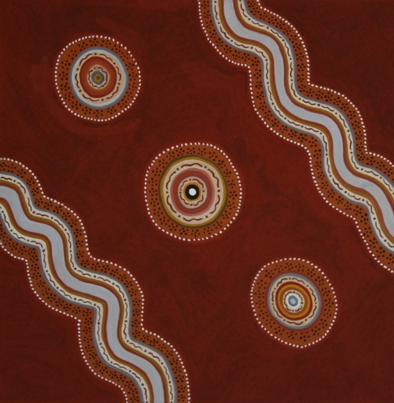 Gloria Mengil, Binjin Billabongs 2010 © Waringarri Aboriginal Arts