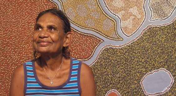Peggy Griffiths © Waringarri Aboriginal Arts 2014