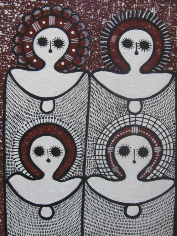Mildred Mungulu, Wandjinas 2010 © Mowanjum Aboriginal Art & Culture Centre
