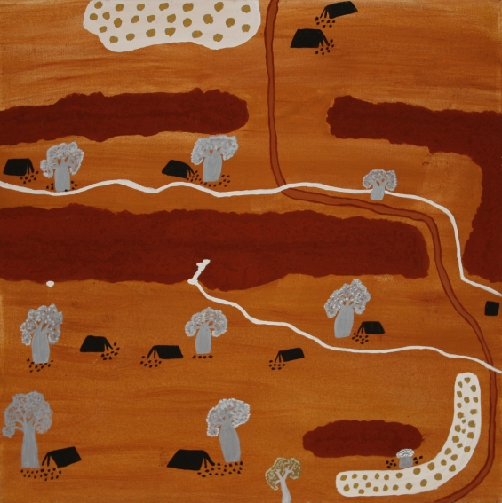 Agnes Armstrong, Button's Gap 2010 © Waringarri Aboriginal Arts