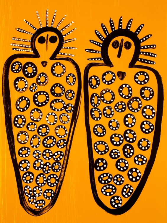 Edna Dale, Djalala & Wandjinas 2015 © Mowanjum Aboriginal Art and Culture Centre