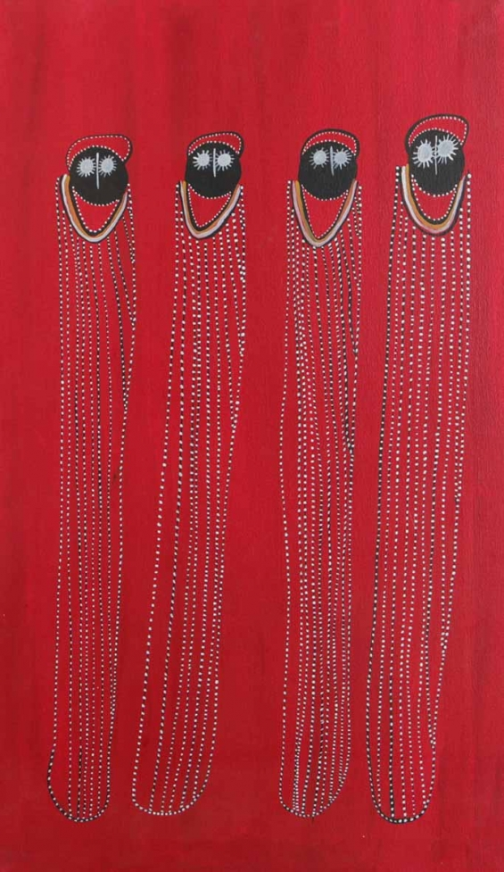 Edna Dale, Gulawana Wandjina (shell necklace Wandjina) 2014 © Mowanjum Aboriginal Art & Culture Centre