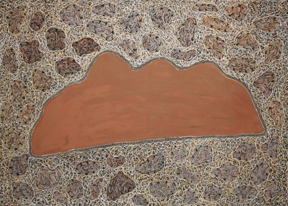 Peggy Griffiths, Nyangood - Beazley Knob 2011 © Waringarri Aboriginal Arts