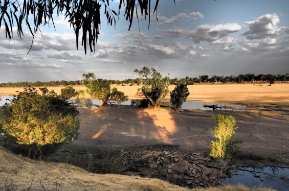 The Fitzroy River at sunset, Fitzroy Crossing © AGWA 2015