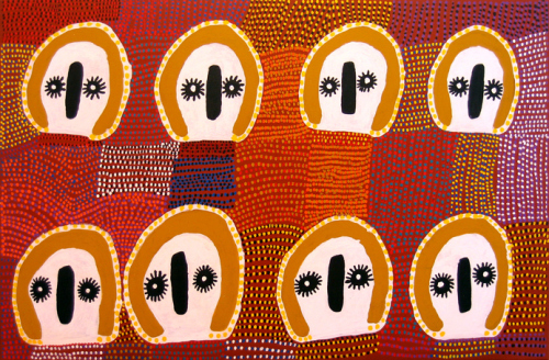 Lucy Ward, Wandjina, acrylic on canvas, 2006