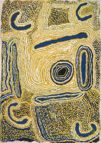 Nora Wompi, Kinjun 1995, acrylic on paper, National Gallery of Victoria.