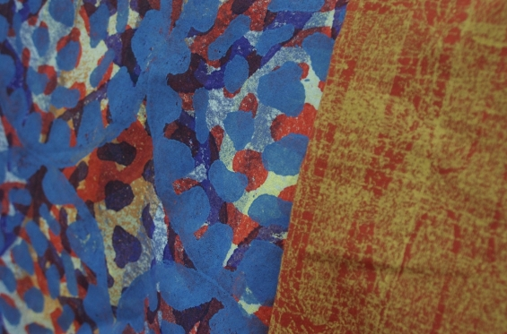 Nagula Jarndu textile designs on display in the gallery space © AGWA 2015