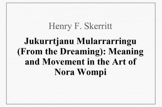 Contributing Author Henry F. Skerritt: Nora Wompi image
