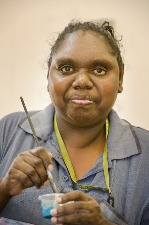 Kirsty Burgu. © Mowanjum Aboriginal Art & Culture Centre 2014
