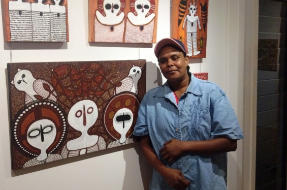 Visual Arts Leadership Program participant Lutisha Woolagoodja © AGWA 2016