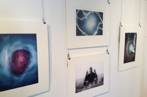 Install shot of photographs by Broome artist Michael Jalaru Torres at the DRS 2016 Visual Arts Leadership Program exhibition in Kununurra. © AGWA