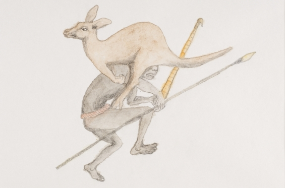 Butcher Joe Nangan, Kantjiba, 1982-83, black pencil and watercolour, 27 x 36.5 cm, Art Gallery of Western Australia, Perth