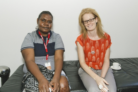 Rachael Umbugai with Lucy Harper, Associate Curator, 2013 Emerging Leaders Symposium.