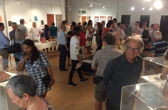 The crowd at the 2016 DRS Visual Arts Leadership Program inaugural exhibition opening in Kununurra. © AGWA