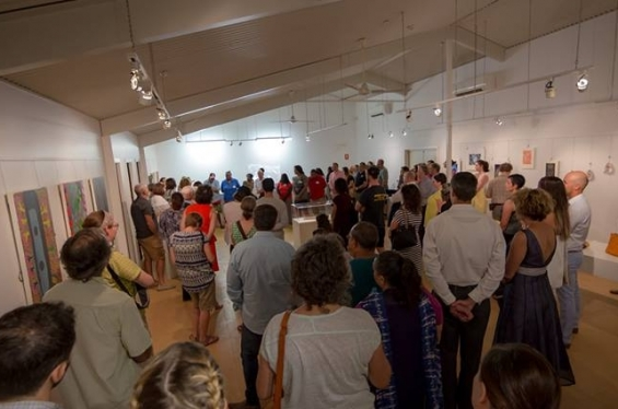 The crowd at the opening of the DRS 2016 Visual Arts Leadership Program exhibition in Kununurra © Benjamin Broadwith 2016